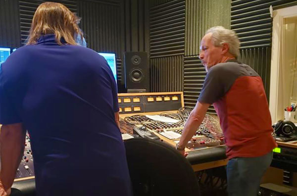 Gary Bruzee and Mary Mitchell mix their new recording at Lamont Audio