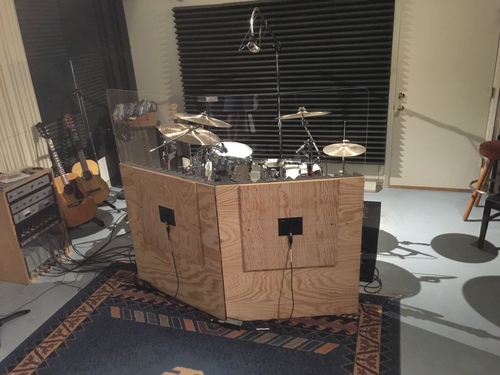 Plexiglass Drum Booth